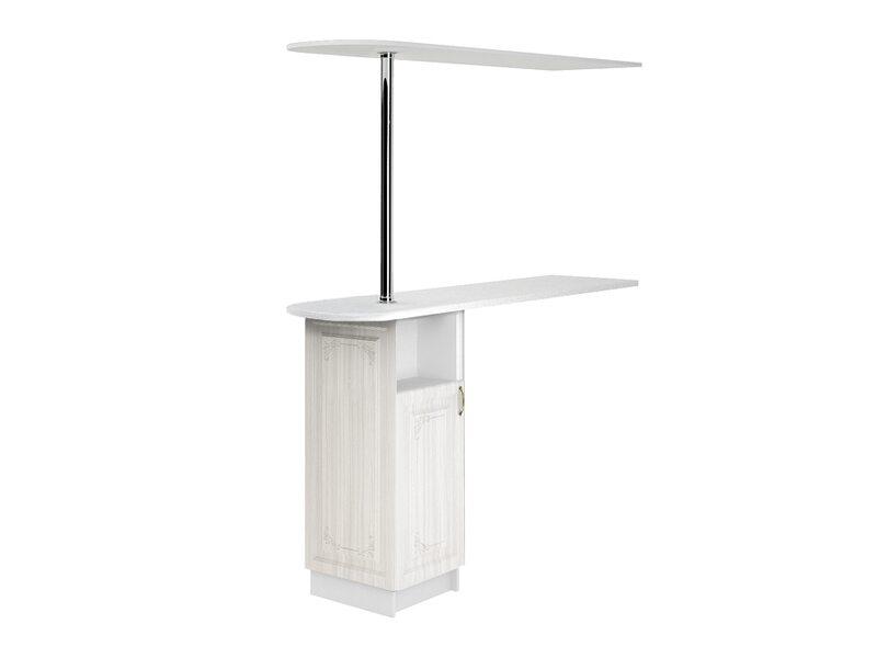 Стол с сферической барной стойкой и надстройкой кухня Виктория ширина 1790 мм высота 2176 мм Модуль №153