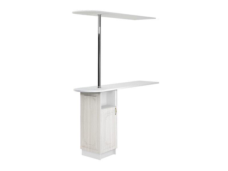 Стол с сферической барной стойкой и надстройкой кухня Виктория ширина 1790 мм высота 2450 мм Модуль №157