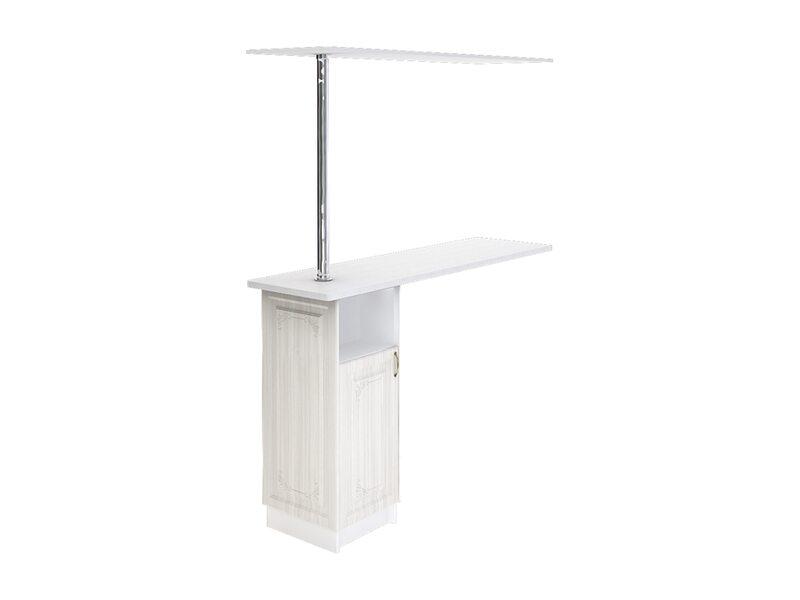 Стол с барной стойкой и надстройкой кухня Виктория ширина 1790 мм высота 2176 мм Модуль №152