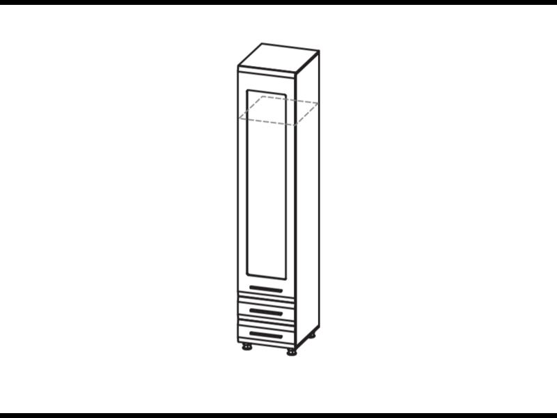 Пенал многоцелевой (зеркало) ИН-115