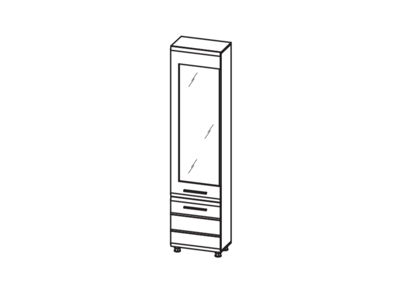 Пенал многоцелевой (одно стекло) ИН-122
